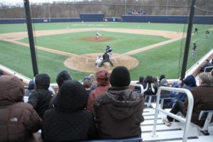 GW baseball game at the newly renovated Barcroft Park