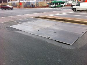 N. Randolph and Wilson Blvd steel plates (photo courtesy Frank Murphy)