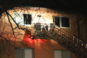 Apartment fire on 3400 block of Carlyn Hill Drive