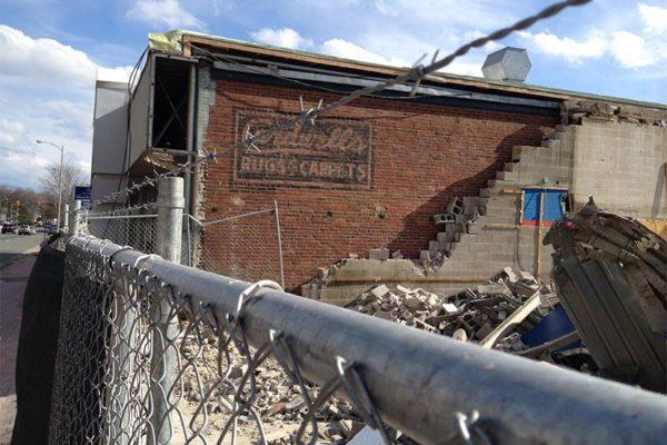 Building demolition on Glebe Road (photo courtesy