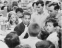 Joan Mullholland at Cherrydale Drug Fair sit-in, 1960 (photo courtesy washington_area_spark Flickr photostream)
