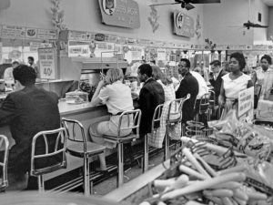 Sit-in at People's Drug on Lee Hwy, 1960 (photo courtesy washington_area_spark Flickr photostream)