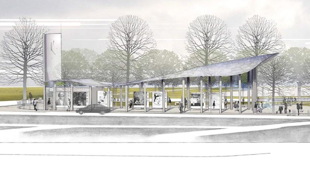 Sketch of a concept for the future Nauck Town Square