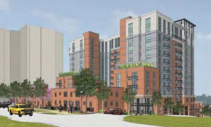 Rendering of the newly-approved Pierce Queen apartment tower