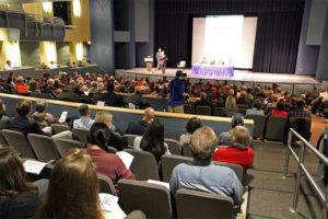 Rep. Jim Moran's panel discussion on gun violence at Washington-Lee high school