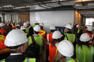 Topping out ceremony for 1812 N. Moore Street