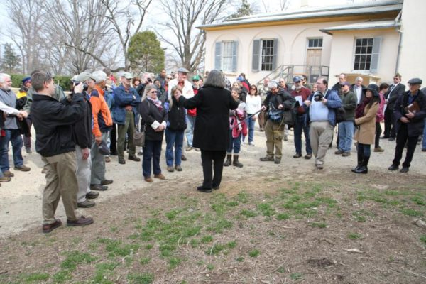 Attendees gathered for the site visit