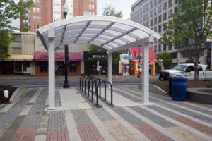New Clarendon bike shelter (photo via Facebook)