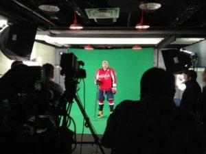 Alex Ovechkin virtual statue video shoot