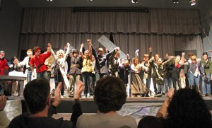 Curtain call of the H-B Woodlawn production of Henry VI (courtesy photo)