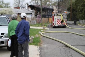 House fire on N. Dinwiddie Street