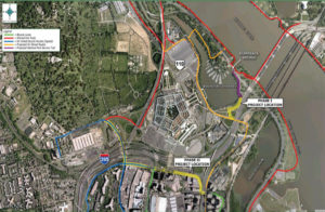 Proposed Army Navy Drive bicycle track plan