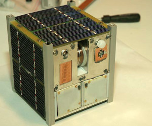 A CubeSat device (photo via Wikipedia)