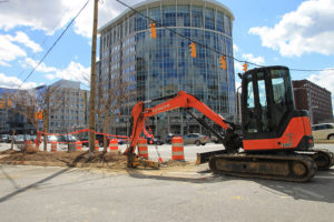 Construction at Glebe Road and N. Fairfax Drive