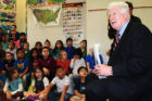 Rep. Jim Moran reads to Barcroft Elementary students on World Autism Awareness Day