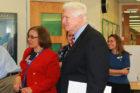 Barcroft Elementary Principal Miriam Hughey-Guy and Rep. Jim Moran