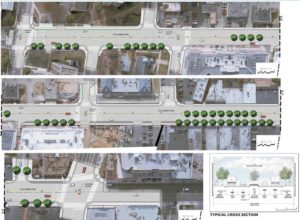 Sketch of one section of the planned Columbia Pike  Multimodal Improvements project