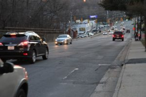 Poor road conditions on  Columbia Pike