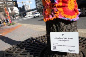 Yarn bombing in Rosslyn