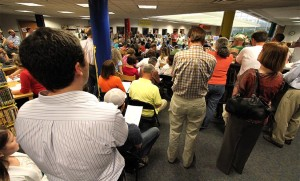 Packed house at the Bluemont Civic Association meeting on 4/24/13