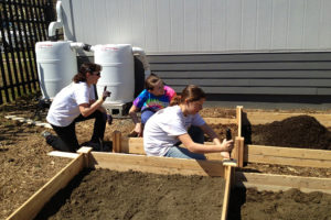 Girl Scouts build garden for AWLA