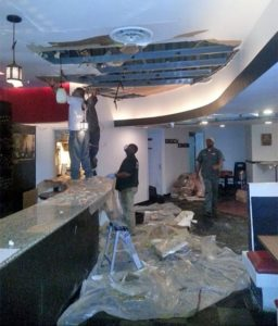 Water damage at Toscana Grill (photo courtesy Joe Smith)