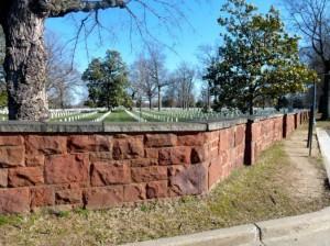 Seneca Quarry wall at Arlington National Cemetery (photo courtesy Preservation Arlington)