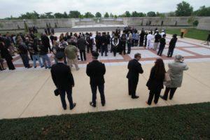 Columbarium Court No. 9 dedication ceremony (photo courtesy U.S. Army)
