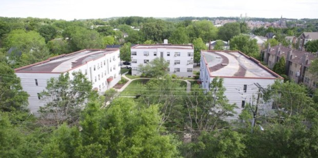 Garden apartment buildings (photo courtesy Preservation Arlington)