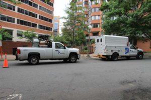 Dominion crews on N. Utah Street near Fairfax Drive