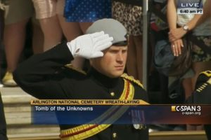 Prince Harry at the Tomb of the Unknowns