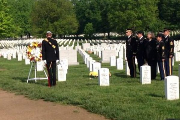 Prince Harry in Section 60 of Arlington National Cemetery