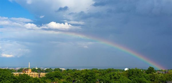 Rainbow over Pentagon Row by Martin Humm