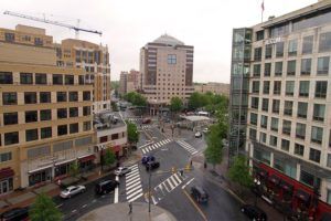 Buildings in Clarendon and the Clarendon Metro station