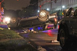 SUV roll-over accident near Rosslyn 5/7/13