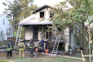 House fire in Lyon Park
