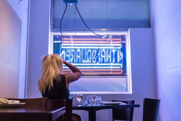 Neon sign at Thai Square restaurant (Flickr photo by Ddimick)