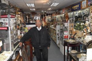 Vinod Goel in his store