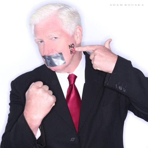 Rep. Jim Moran's NOH8 Campaign photo
