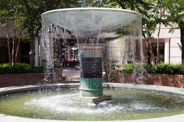 The Ellipse fountain in Ballston (Flickr pool photo by Eschweik
