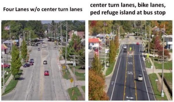 Wilson Blvd lane reduction proposal in Bluemont (photo via BCA)