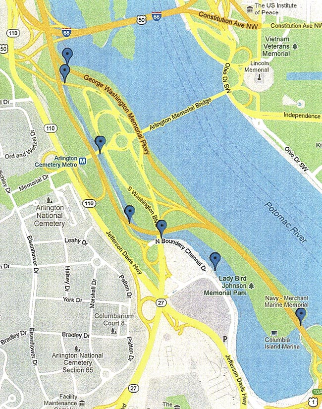 U S Park Police Provided Map Of Columbia Island