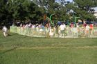 Ribbon cutting for sprayground at Virginia Highlands park