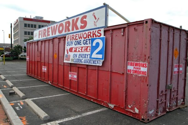Fireworks trailer on Columbia Pike