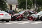 Four-vehicle crash at Lee Highway and Sycamore Street