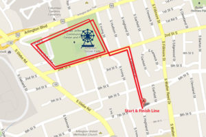 County Fair 5K route map