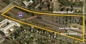 I-66 air rights development proposal in East Falls Church (photo via VDOT)