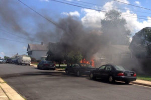 Car fire in Hall's Hill (courtesy of @KenHagemann)
