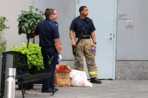 Hazmat investigation outside Le Méridien in Rosslyn