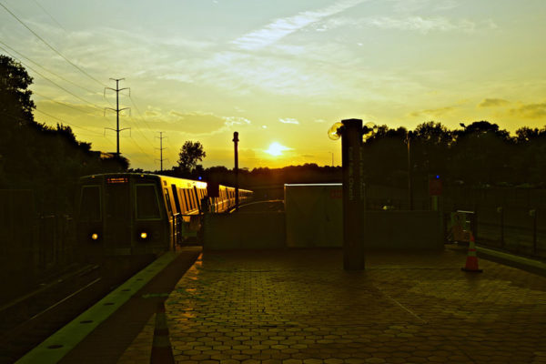 Sunset over the Orange Line